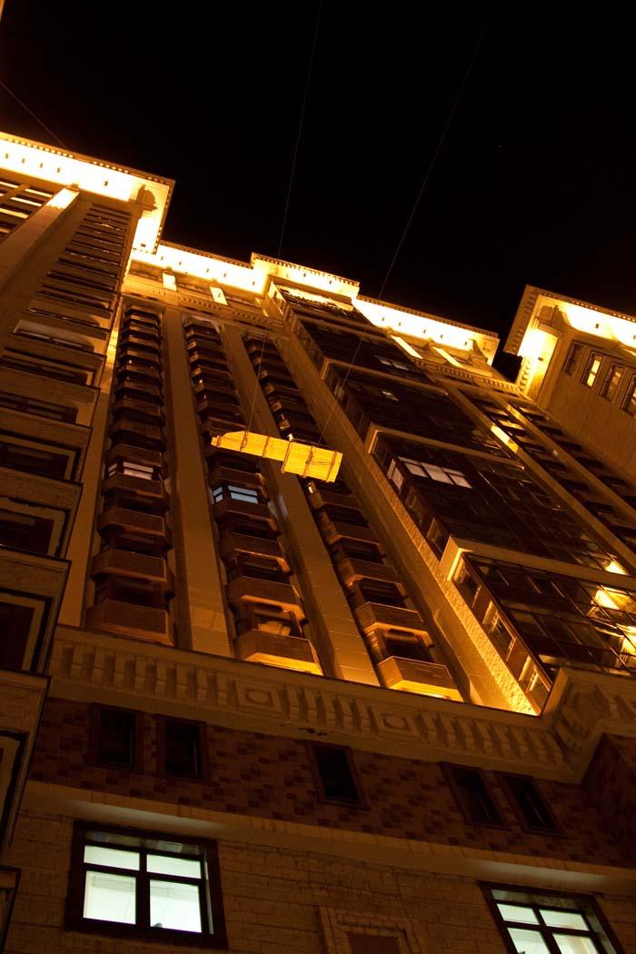 Подъем столешницы на 26 этаж
